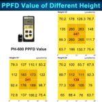 Philzon 600W LED PPFD Value